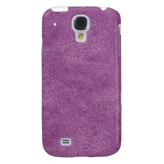 Mirada de cuero púrpura iPhone3G Funda Para Galaxy S4