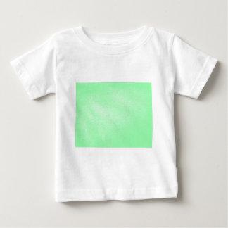 Mirada de cuero verde de la aguamarina en colores camiseta de bebé