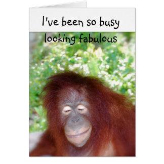 Mirada de humor tardío fabuloso del cumpleaños tarjeta de felicitación