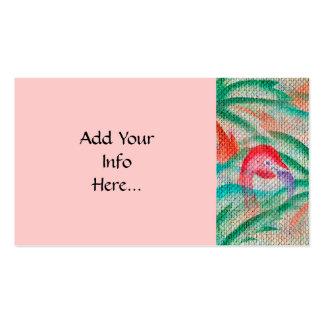 Mirada de la arpillera de la palmera del flamenco tarjetas de visita