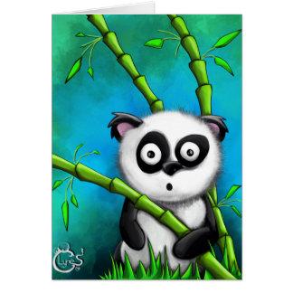 Mirada de la tarjeta de la panda