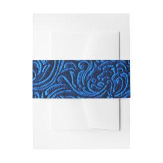 Mirada de la teja del vintage del negro azul de cintas para invitaciones
