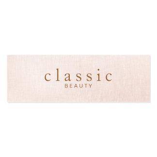 Mirada de lino del rosa simple y clásico de la tarjetas de visita mini