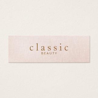 Mirada de lino del rosa simple y clásico de la tarjeta de visita pequeña