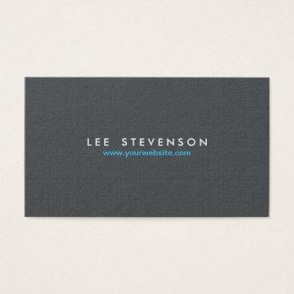 Mirada de lino gris sólida simple de Minimalistic Tarjeta De Negocios