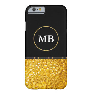 Mirada de lujo con clase del oro funda barely there iPhone 6