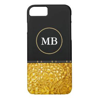 Mirada de lujo con clase del oro funda iPhone 7