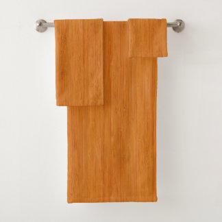 Mirada de madera de bambú ambarina del grano