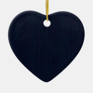 Mirada de madera de bambú del grano de los azules adorno de cerámica en forma de corazón
