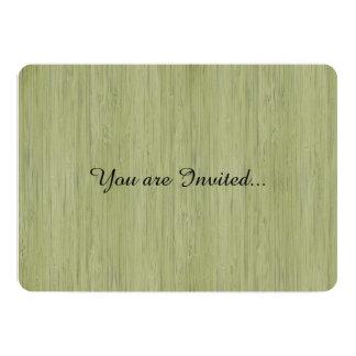 Mirada de madera de bambú del grano del verde de invitación 12,7 x 17,8 cm