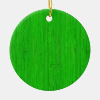 Mirada de madera de bambú verde clara del grano adorno redondo de cerámica