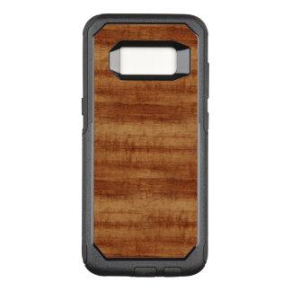 Mirada de madera del grano del acacia rizado de funda otterbox commuter para samsung galaxy s8