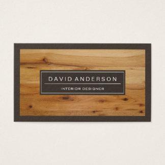 Mirada de madera moderna profesional del grano tarjeta de negocios