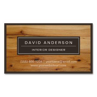 Mirada de madera moderna profesional del grano tarjetas de visita magnéticas (paquete de 25)