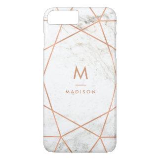 Mirada de mármol con el modelo geométrico del funda para iPhone 8 plus/7 plus