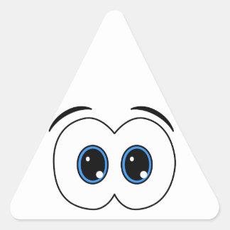 Mirada de ojos pegatinas triangulo personalizadas