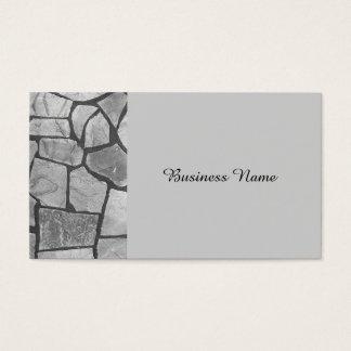 Mirada de pavimentación de piedra gris decorativa tarjeta de negocios