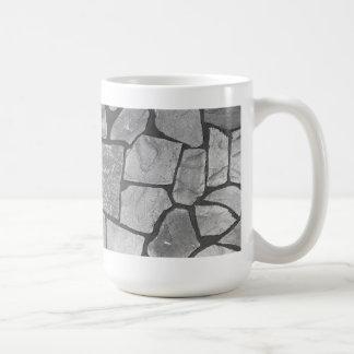 Mirada de pavimentación de piedra gris decorativa taza clásica