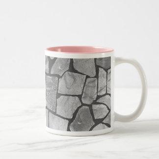 Mirada de pavimentación de piedra gris decorativa taza de dos tonos