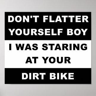 Mirada de su poster divertido de Dirtbike Póster