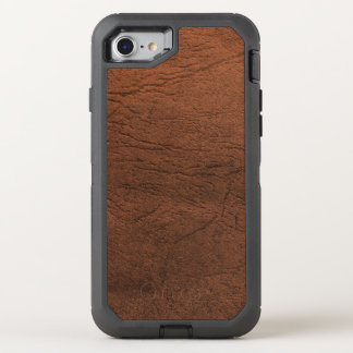 Mirada del cuero de Brown Funda OtterBox Defender Para iPhone 8/7