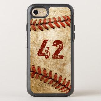 Mirada del Grunge del béisbol del vintage con su Funda OtterBox Symmetry Para iPhone 7
