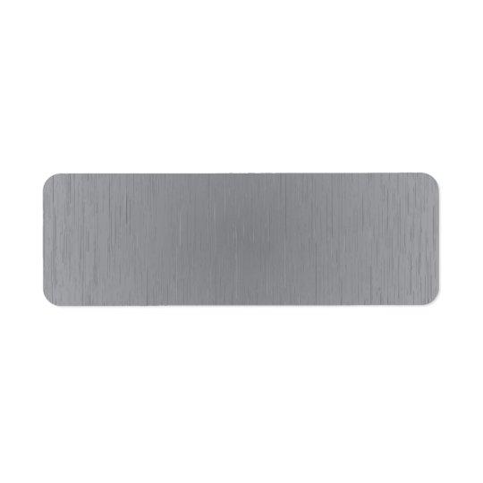 Mirada del metal plateado etiqueta de remite