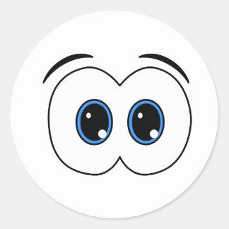 Mirada del pegatina de los ojos