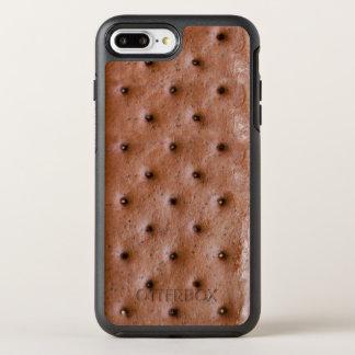 Mirada divertida y dulce del bocadillo del helado funda OtterBox symmetry para iPhone 8 plus/7 plus