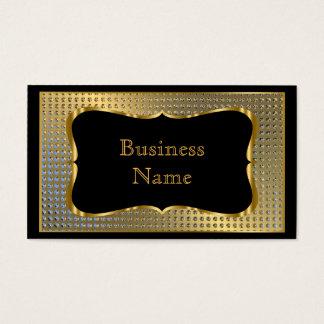Mirada elegante moderna del metal del negro del tarjeta de visita
