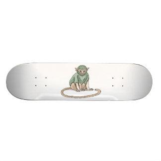 Mirada fija del mono tablas de patinar