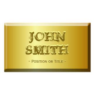 Mirada fina del ladrillo del oro con el texto grab tarjetas de visita