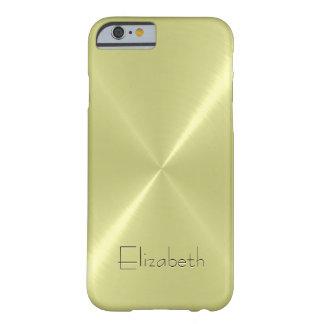 Mirada fresca del metal del acero inoxidable funda para iPhone 6 barely there