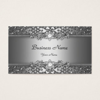 Mirada grabada en relieve damasco con clase tarjeta de negocios