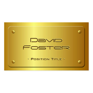 Mirada grabada en relieve de la placa de oro - luj plantilla de tarjeta personal