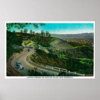 Mirada hacia el valle del antílope de Sandberg Impresiones