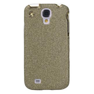 Mirada iPhone3G de Bling del brillo del oro Funda Para Galaxy S4