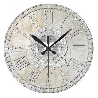 Mirada italiana del yeso del vintage de la reloj redondo grande