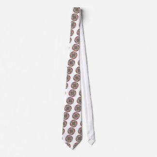 Mirada loca del estilo travieso de la flor de corbata