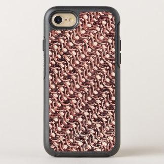 Mirada metálica del oro de Chainmail de la Funda OtterBox Symmetry Para iPhone 7