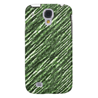 Mirada metálica iPhone3G de la hoja verde Funda Para Galaxy S4