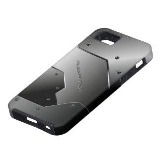 Mirada-Monograma de aluminio cepillado gris oscuro Funda Para iPhone SE/5/5s