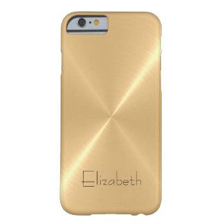 Mirada pálida metálica del metal del acero funda para iPhone 6 barely there