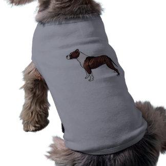 Mirada Pitbull del metal Camisetas De Perro