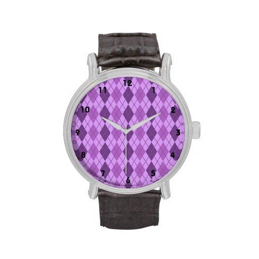 Mirada púrpura de color de malva y violeta de Argy Reloj De Mano