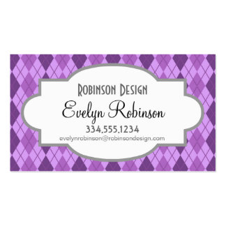 Mirada púrpura de color de malva y violeta de Argy Tarjetas De Visita
