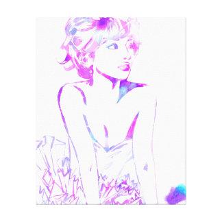Mirada púrpura impresión en lienzo