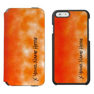 Mirada química anaranjada de neón 2 del resplandor funda cartera para iPhone 6 watson