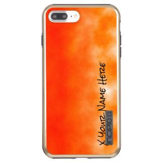 Mirada química anaranjada de neón 2 del resplandor funda DualPro shine de incipio para iPhone 7 plus