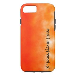 Mirada química anaranjada de neón 2 del resplandor funda iPhone 7